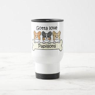 Three Papillons Travel Mug