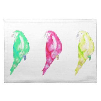 Three Parrots Watercolour Design Placemat