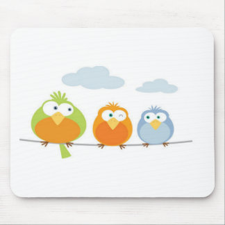 Three Passarinhos/Tree little birds Mouse Mat