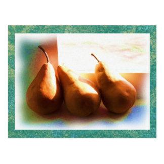 Three Pears Postcard