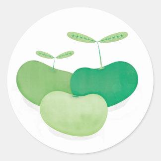 Three peas from a pod classic round sticker