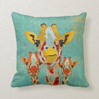 Three Peeking Giraffes  MoJo Pillow Throw Cushions