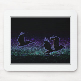 Three Pelicans mousepad - photo art by HD
