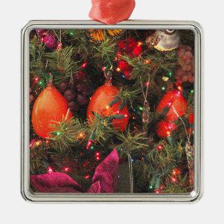 Three Persimmon Ornament Square