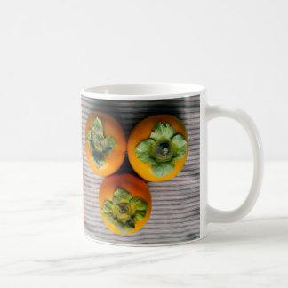 Three persimmons coffee mug