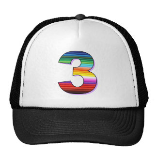 Three - Personalise for Birthdays, Ages or Events. Trucker Hats