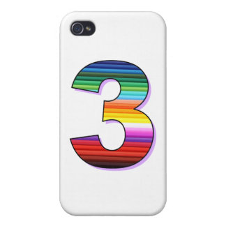 Three - Personalise for Birthdays, Ages or Events. iPhone 4 Cover