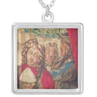 Three persons, from the Month of January Silver Plated Necklace