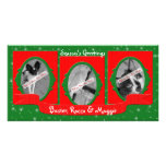 Three Pet Holiday Personalised Photo Card