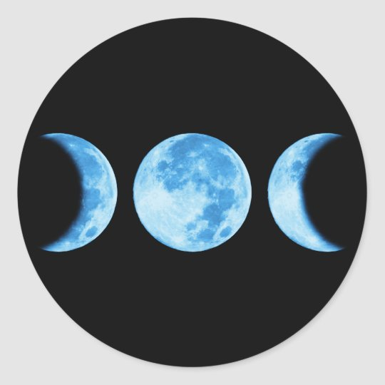 Three Phase Moon Sticker