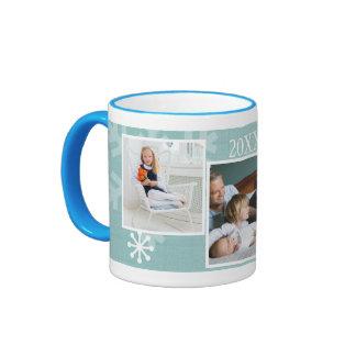 Three Photo Collage Custom Year Winter Mug