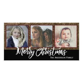 Three Photo Merry Christmas Card