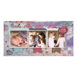 Three Photo Scrapbook Design Photo Customised Photo Card