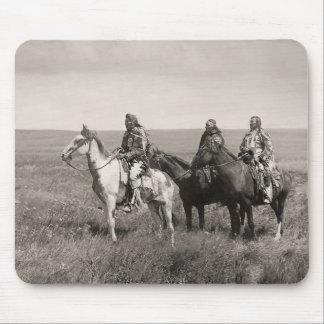 Three Piegan Blackfeet Chiefs - vintage Mouse Mat