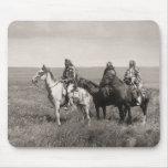 Three Piegan Blackfeet Chiefs - vintage Mouse Pad