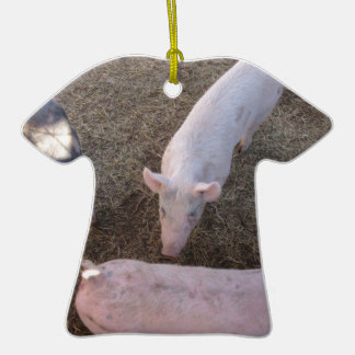 Three Pigs Double-Sided T-Shirt Ceramic Christmas Ornament