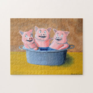 Three Pigs in a Tub Puzzle