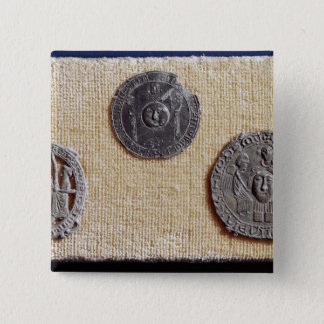 Three pilgrimage plaques of St. Jean d'Amiens 15 Cm Square Badge