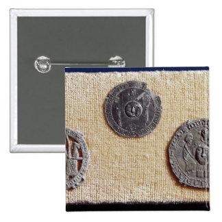 Three pilgrimage plaques of St. Jean d'Amiens 15 Cm Square Badge
