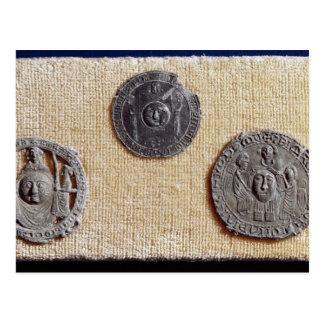 Three pilgrimage plaques of St. Jean d'Amiens Postcard