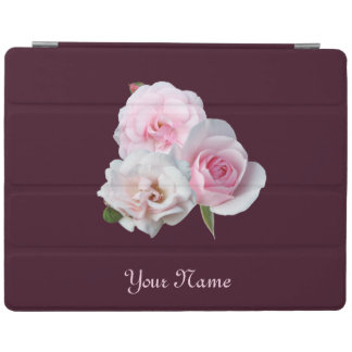 Three pink roses. Add your text. iPad Cover