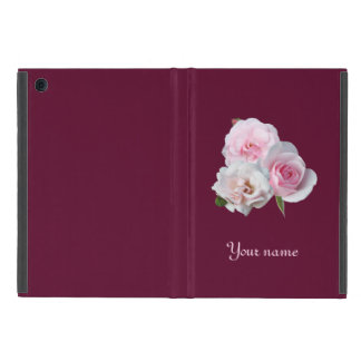 Three pink roses. Add your text. iPad Mini Cover