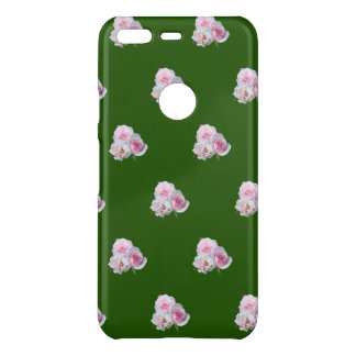 Three pink roses. Floral pattern. Uncommon Google Pixel Case