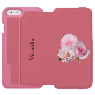 Three pink roses. incipio watson™ iPhone 6 wallet case