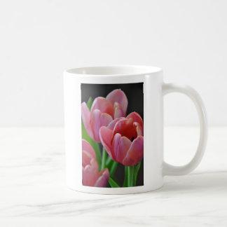 Three Pink Tulips Basic White Mug