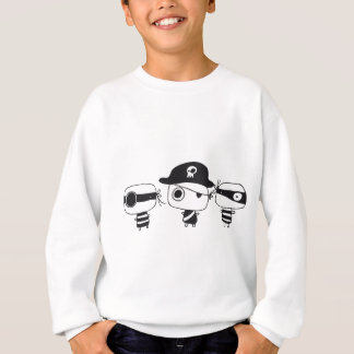 Three pirates black sweatshirt