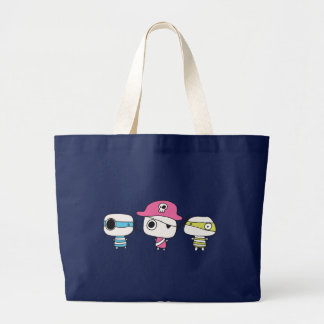Three pirates go pastelly large tote bag