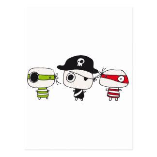 Three pirates postcard