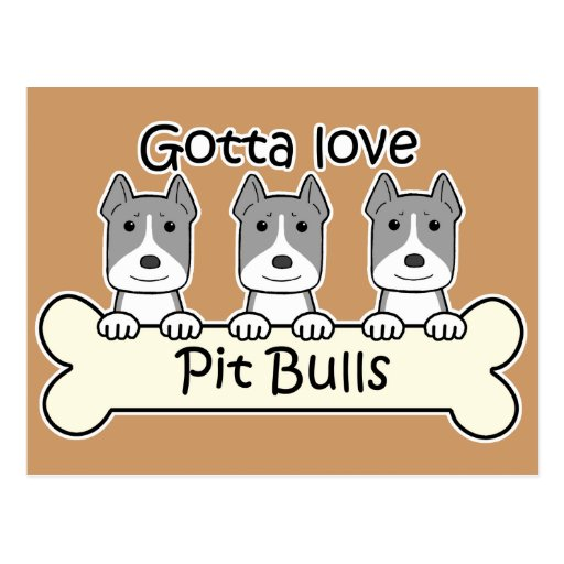 Three Pitbulls Postcards