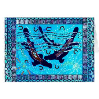 Three Platypus Dreaming Greeting Card