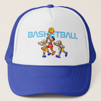 Three Players of Basketball Trucker Hat