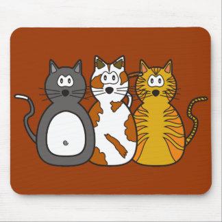 Three Playful Kittens Mousepad