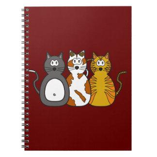 Three Playful Kittens Spiral Notebook