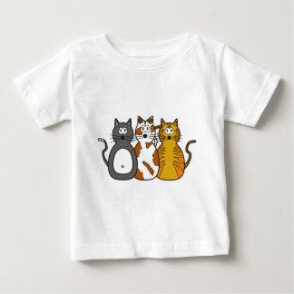 Three Playful Kittens T Shirts