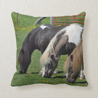 Three Ponies In A Row Cushion