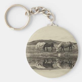 Three pony`s key ring