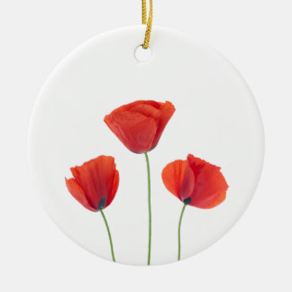 Three poppies christmas ornament