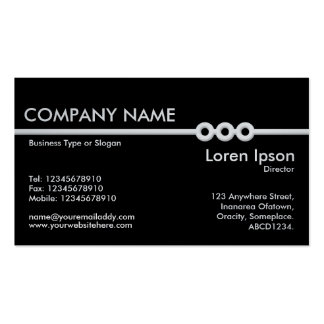 Three Portholes Line - Black (On Platinum Card) Business Card Template