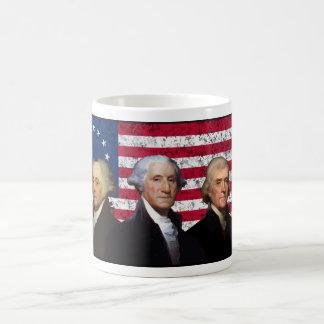 Three Presidents and The American Flag Coffee Mug