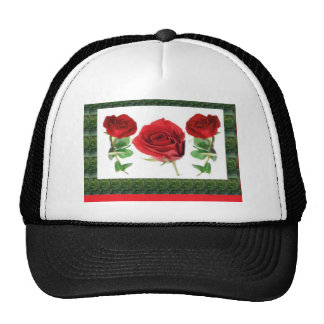 Three PRETTY Roses Cap