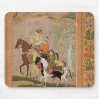 Three Princes Going Hunting, c.1635 (gouache on pa Mouse Mat