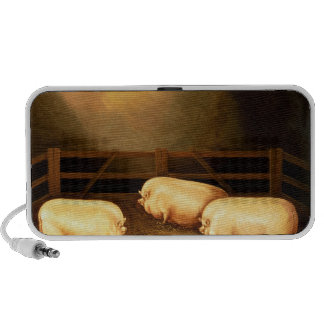 Three Prize Pigs outside a Sty iPod Speaker