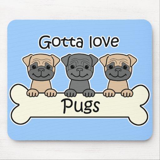 Three Pugs Mouse Pad