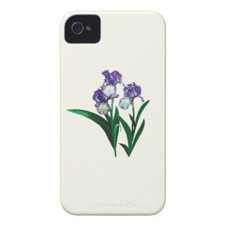Three Purple and White Irises Case-Mate iPhone 4 Case