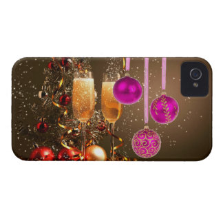 Three Purple Balls with Champagne Case-Mate iPhone 4 Cases