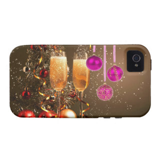 Three Purple Balls with Champagne iPhone 4 Cases